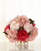 Pink Ice Faux-Floral Arrangement