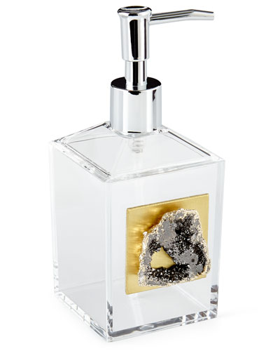 Gray Druzy Pump Dispenser