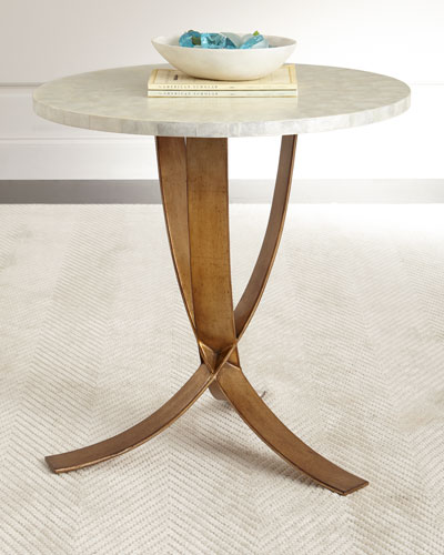 Meir Capiz-Shell Side Table
