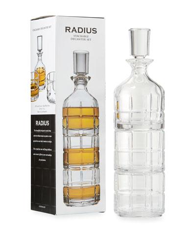 Radius Stack Decanter, 3-Piece Set