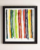 """All of My Colors Stripes"" Giclee"