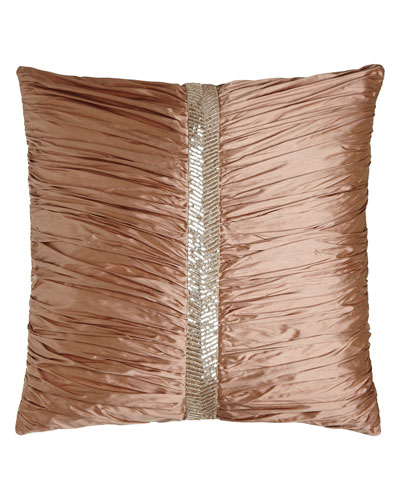 European Adagio Ruched Silk Sham