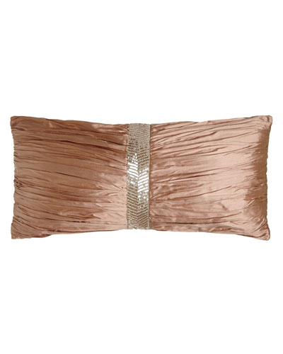 Adagio Ruched Silk Pillow, 12