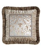 Dian Austin Couture Home Gretta Pillow with Scroll