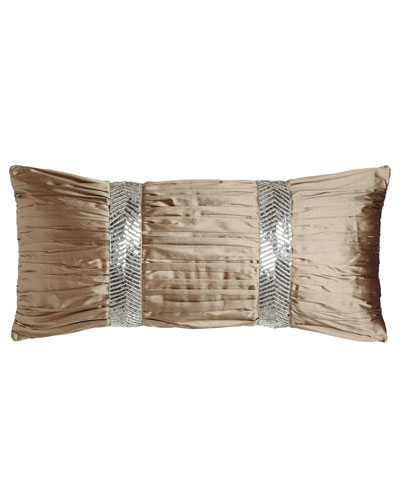 Gretta Ruched Silk Pillow, 12