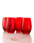 Cheers Stemless Wine Glasses, 4-Piece Set