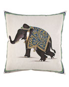 "Elephant Pillow, 20""Sq."
