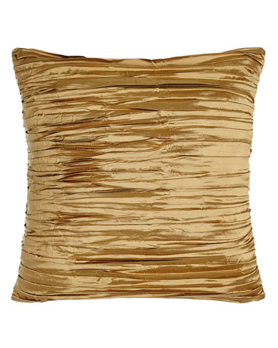 European Valour Pleated Gold Sham