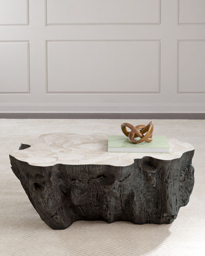 Ursula Fossilized Clam Coffee Table