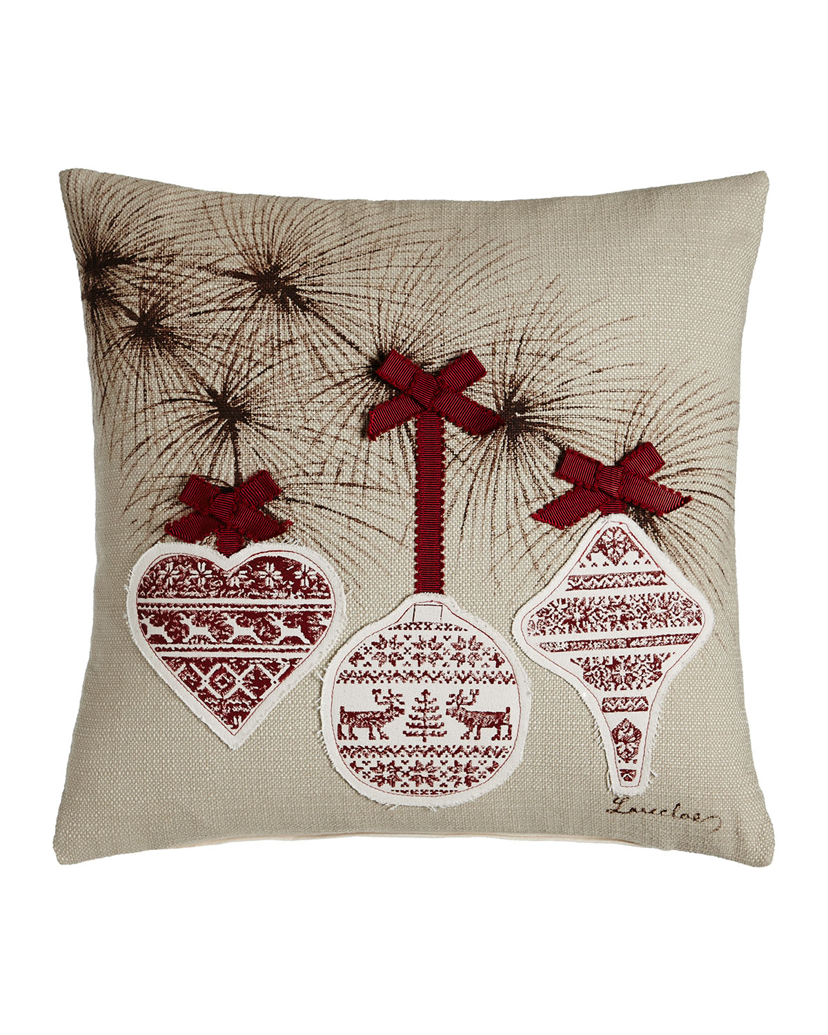 Festive Bow Pillow, 18