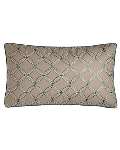 Phoebe Embroidered Circle Pillow, 15