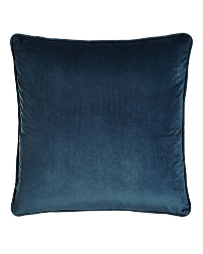 Blue Velvet Pillow, 18