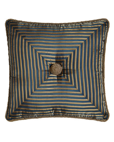 Mitered-Stripe Pillow, 18