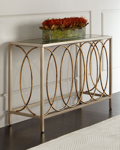 Doss Mirror-Top Console Table