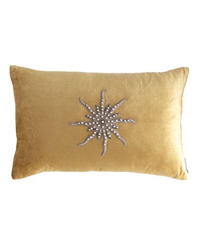 Tiffany Straw Velvet Pillow