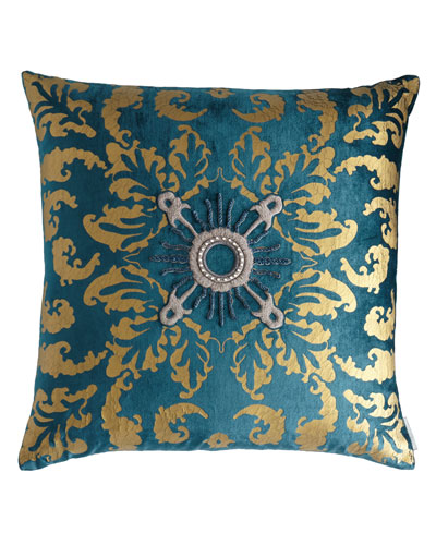 Siena Teal Velvet Pillow