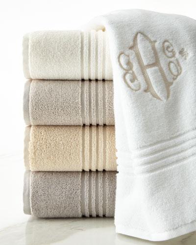 Peacock Alley Chelsea Bath Towel, Monogrammed
