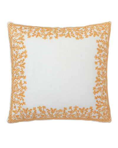 Dream Pillow with Yellow Embroidery, 18