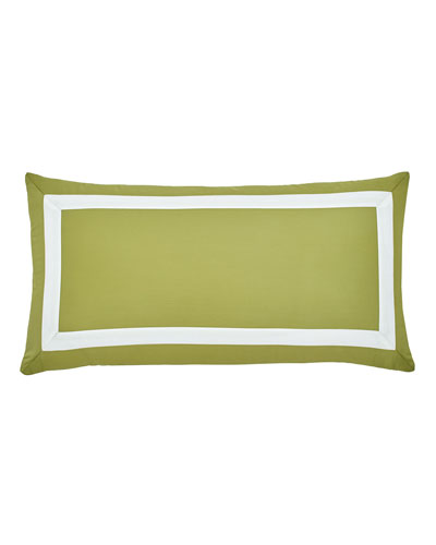 Arrows Olive Pillow with White Detail, 12