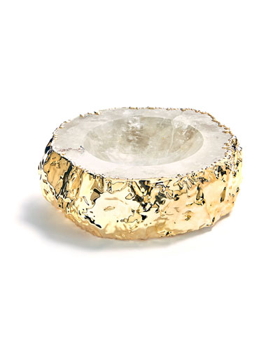 Cascita Crystal & Gold Bowl