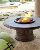 Fretwork Firepit, Bronze