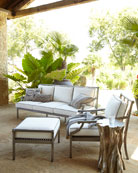 Charlotte Outdoor Lounge Chair & Ottoman & Matching