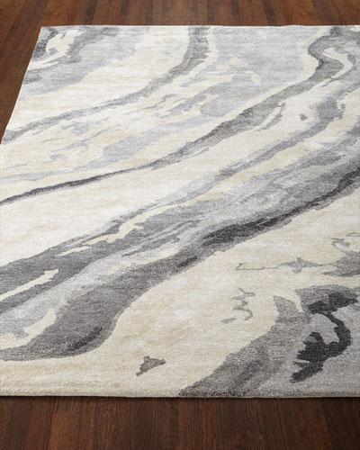 Gray Marble Rug, 3'3