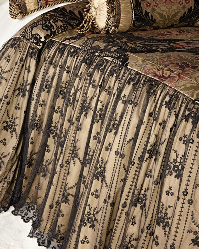 Queen Monte Carlo Skirted Coverlet