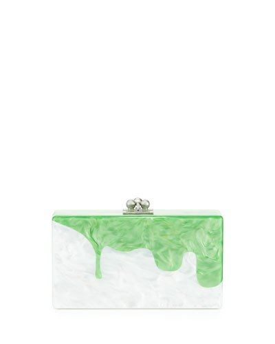 White Pearlescent Jean Slime Clutch