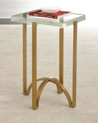 Kingman Glass-Top Side Table