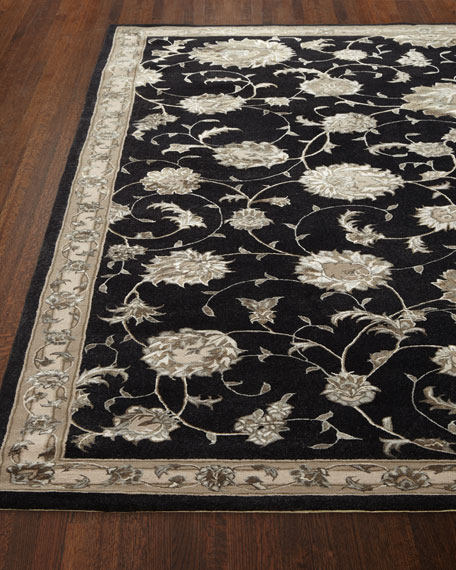 "NourCouture Black Beauty Rug, 5'3"" x 7'5"""
