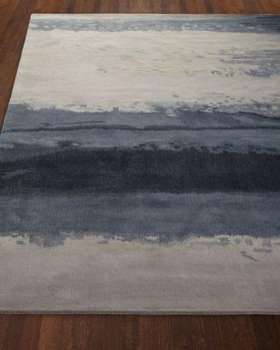 Blue Luster Rug, 4' x 6'