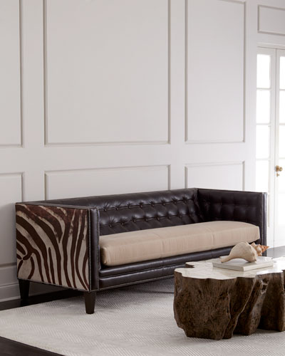 Geronimo Leather Sofa 90