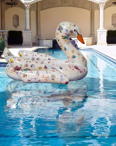 Gray Malin x FUNBOY Artist Edition Swan Pool Float
