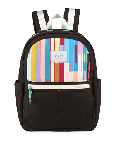 Kane Black & Custom Stripe Backpack
