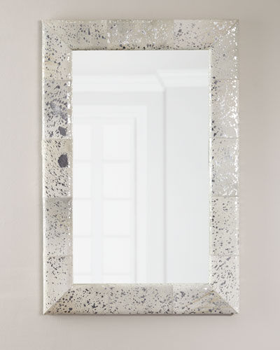 Aldo Small Metallic Hairhide Mirror