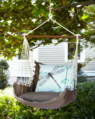 Swing with Dragonfly Pillow