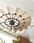 "Windmill Bronze 72"" Outdoor Ceiling Fan"