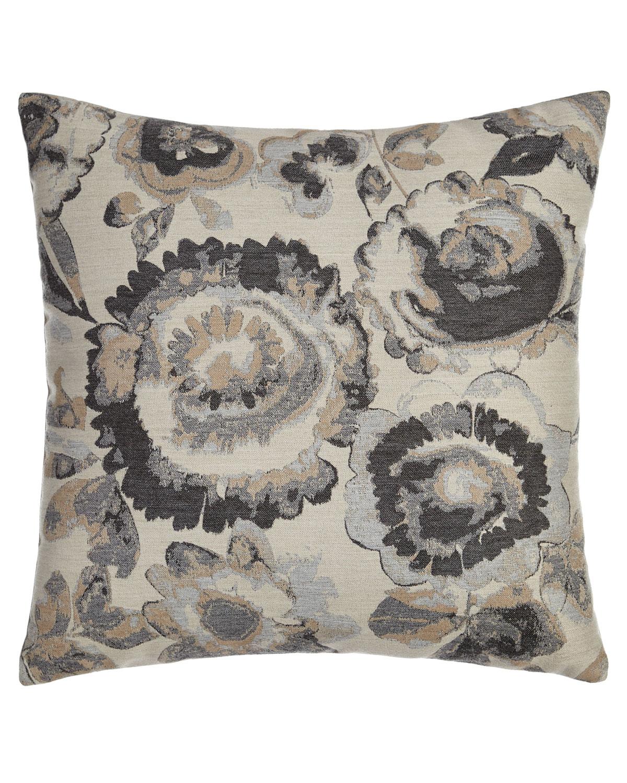 Smoky Floral Outdoor Pillow