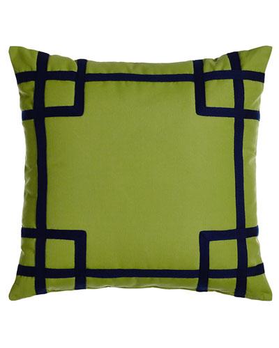 Rio Green/Navy Outdoor Pillow