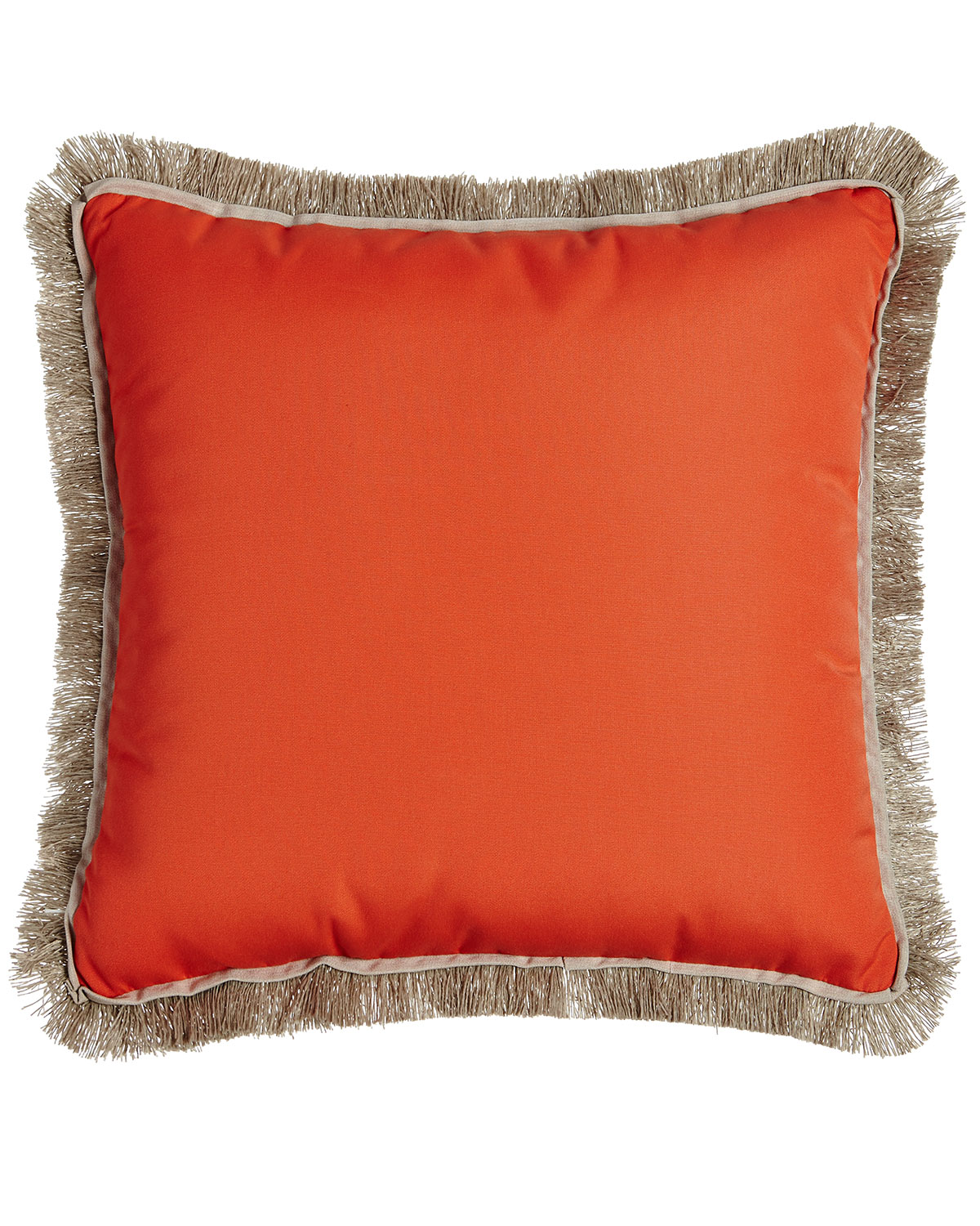 Fringed Coral Outdoor Pillow