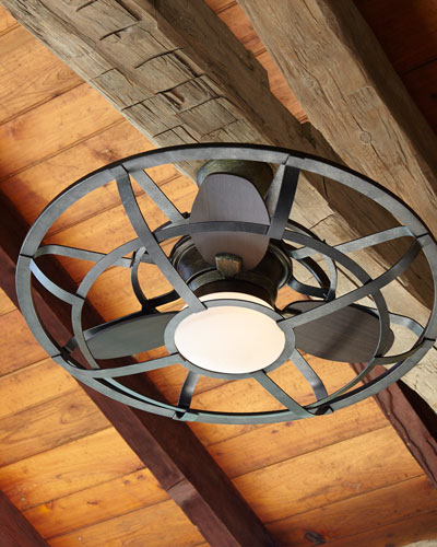 Alsace Outdoor Cage Ceiling Fan