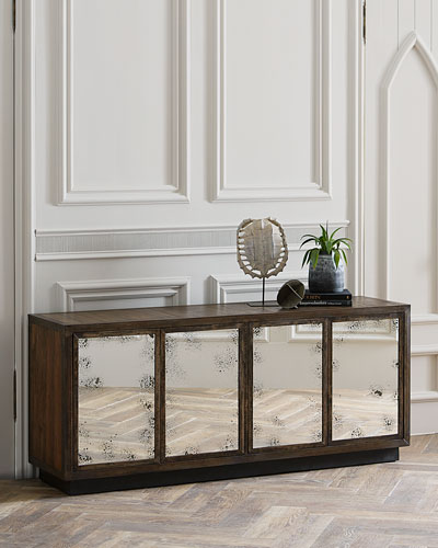 Erik Mirrored Console Table