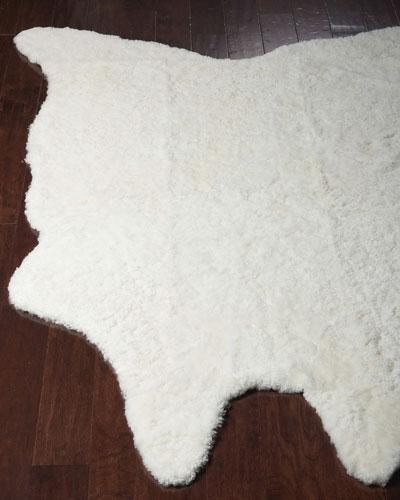 Rosa Ivory Sheepskin Rug, 5' x 7'