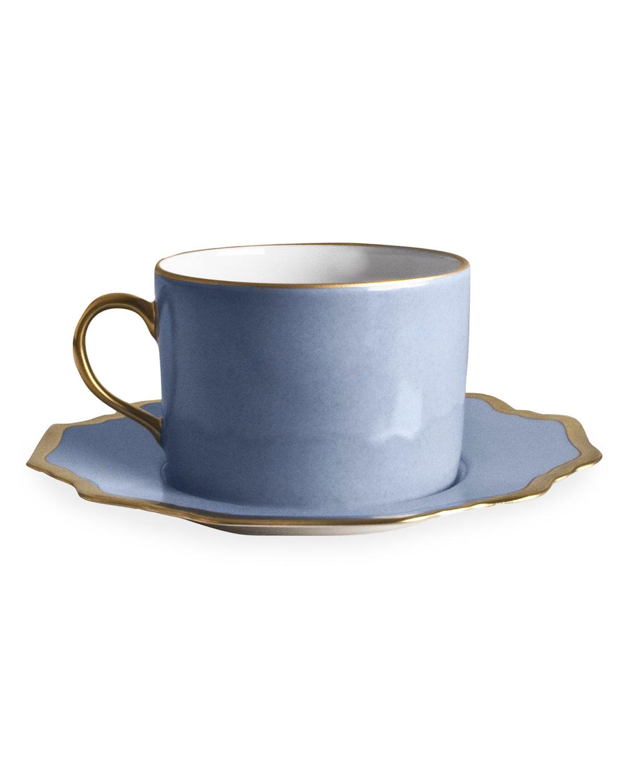 Anna Weatherley ANNA'S PALATTE SKY BLUE TEA SAUCER