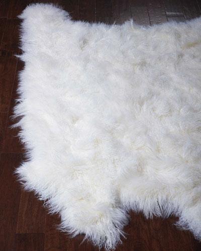 Judy Tibetan Lamb Rug, 5' x 7'