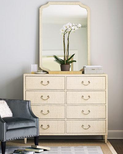 Natalie Raffia Dresser Mirror