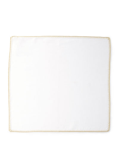 Crochet Edge Napkins, Set of 4