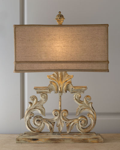 Golden Harp Table Lamp