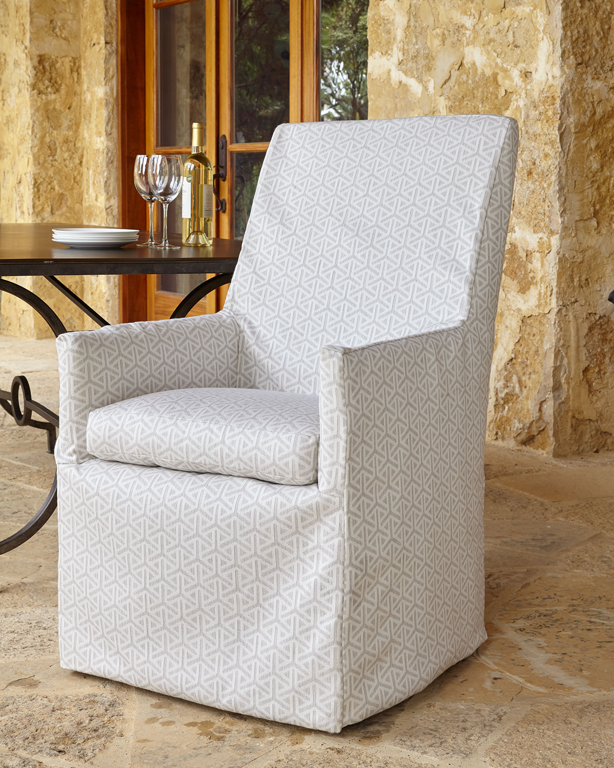 Beige Bennett Outdoor Dining Armchair